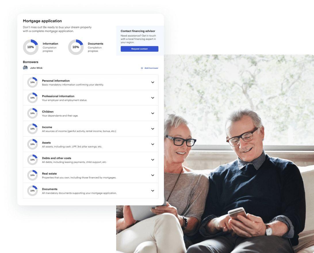 Demande de prêt hypothécaire en ligne.